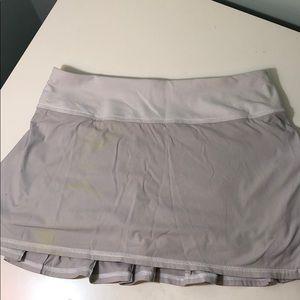 Light Grey Lululemon Skirt Size 4